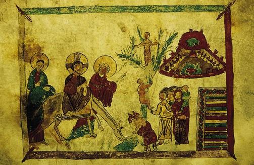 Вход Господень в Иерусалим. Армянский кодекс