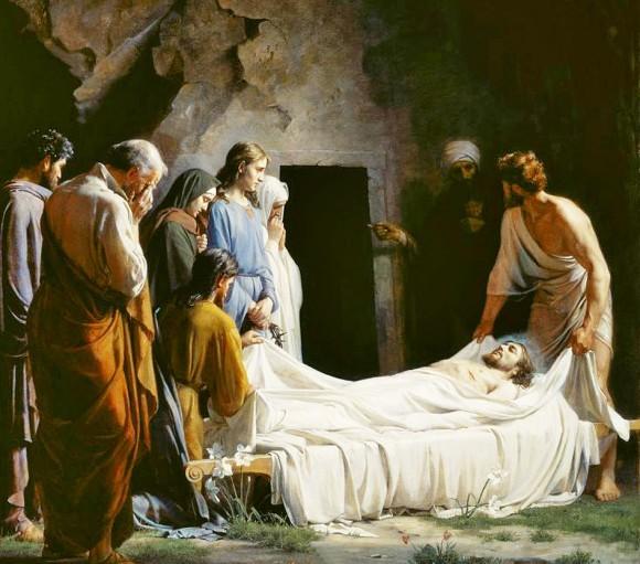 К. Блох. Погребение Христа