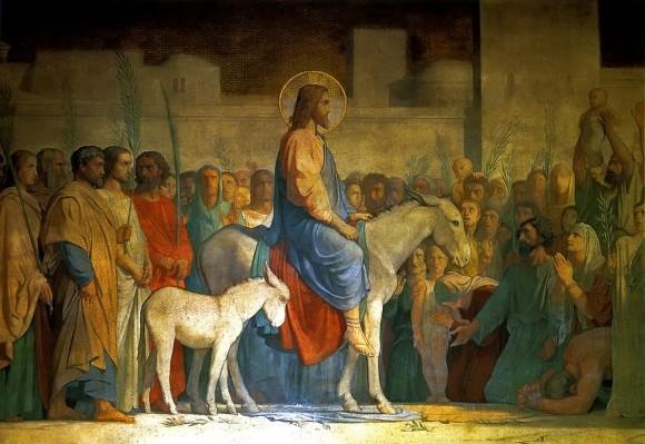 Вход Господень в Иерусалим. Ипполит Фландрин. 1842
