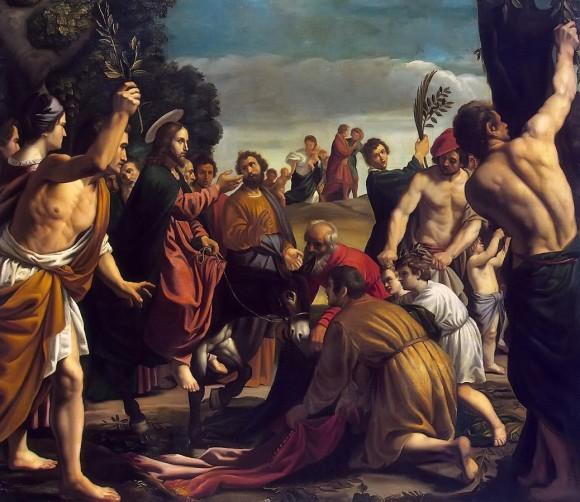 Вход Господень в Иерусалим. Педро Орретнте. 1620