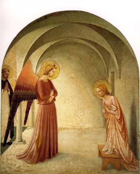 Благовещение. Фра Беато Анджелико. 1432