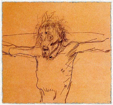 Н. Ге Распятый Христос. Эскиз к утраченной картине. 1894 г.