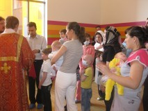 Причащение во время Божественной литургии