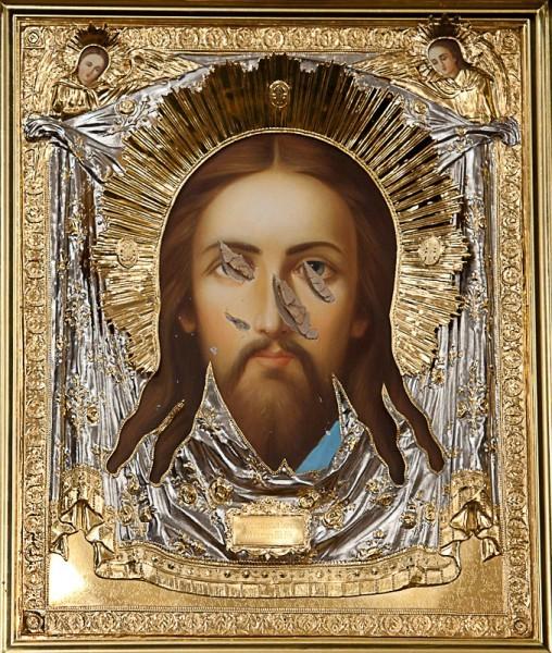 Порубленная икона из храма Прокопия Праведного Великого Устюга