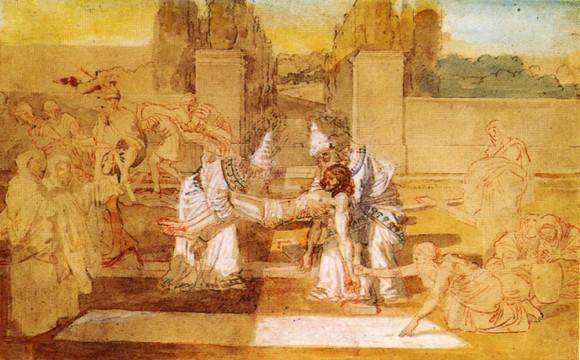 А. Иванов. Иосиф Аримафейский и Никодим переносят тело Христа. 1850 г.