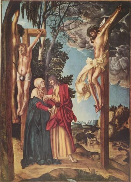 Лукас Кранах Старший. Распятие Христа. 1503 г.