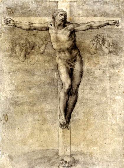 Микеланджело. Распятие Христа. 1541