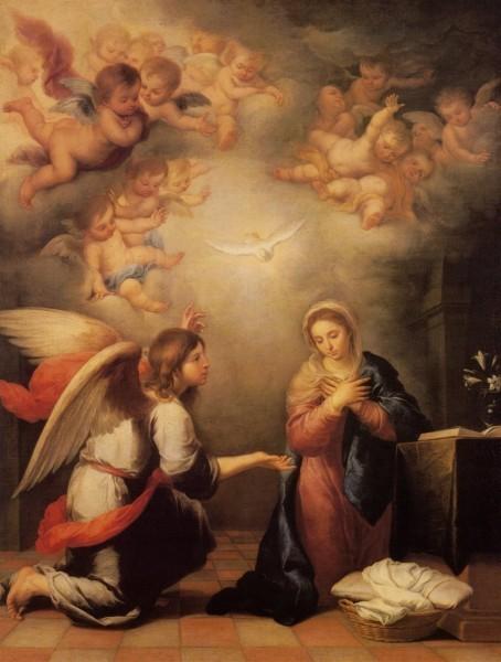 Благовещение. Бартоломео Мурильо, 1655