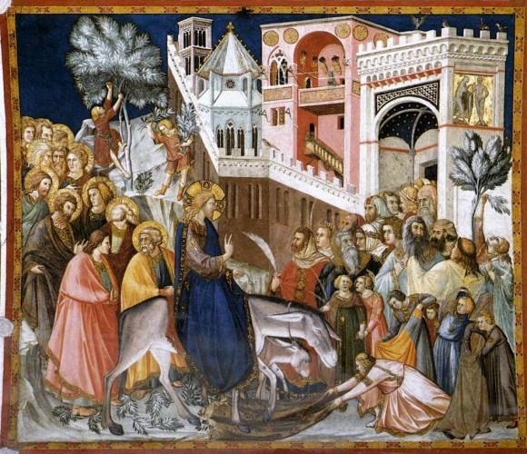 Вход Господень в Иерусалим. Пьетро Лоренцетти