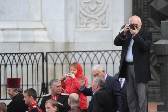 Евгений Стрельчик на молебне в защиту веры 22 апреля 2012