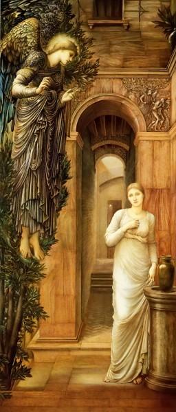 Благовещение. Бёрн-Джонс, 1876