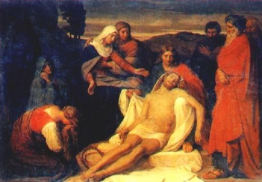 К. Вениг. Положение во гроб. 1859 г.