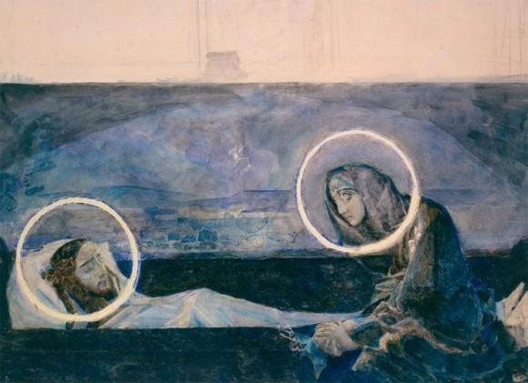 М. Врубель. Надгробный плач. Вариант 2. 1887 г.
