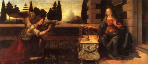 Благовещение. Леонардо да Винчи, 1472