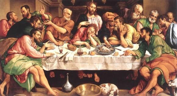 Якопо Бассано Тайная Вечеря 1542