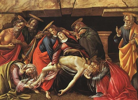 Ботичелли. Положение во гроб. 1495-1500