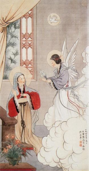 Благовещение. Китайская икона