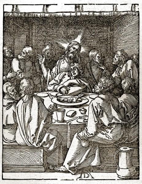 Альбрехт Дюрер Тайная Вечеря Гравюра на дереве 1511
