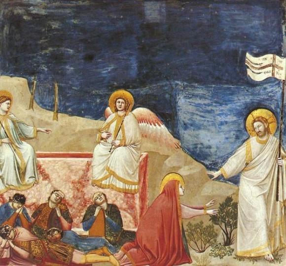 Джотто ди Бондоне. Noli me tangere — явление воскресшего Христа Марии Магдалине (фреска из капеллы Скровеньи, Падуя)