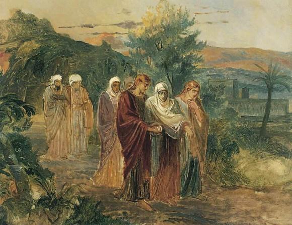 Н. Ге. Возвращение с погребения Христа, 1859 г.