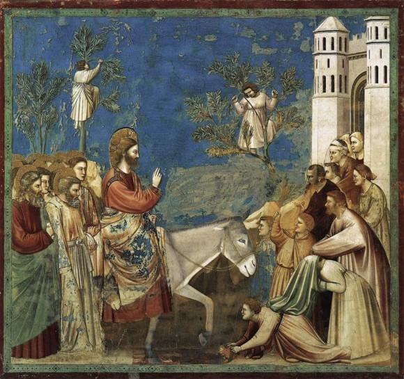 Вход Господень в Иерусалим. Джотто. 1304-06