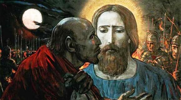 И. Глазунов. Поцелуй Иуды