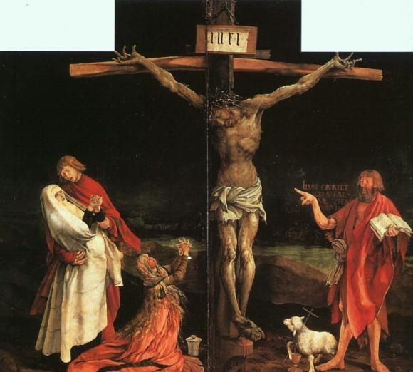 М. Грюневальд. Распятие. Изенхеймский алтарь. 1510-1515.