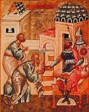 Иосиф и Никодим просят у Пилата Тело Христа