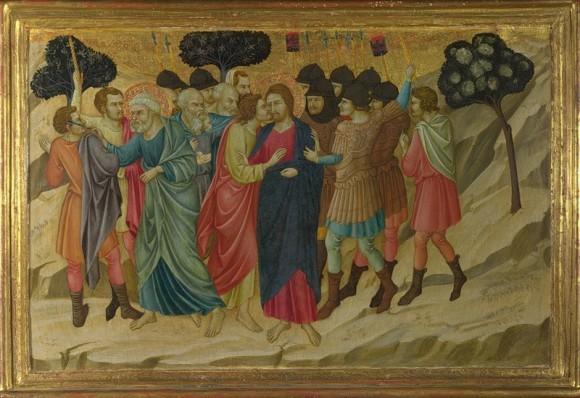 """Уголино ди Нерио """"Предательство Иуды и арест Христа"""""""