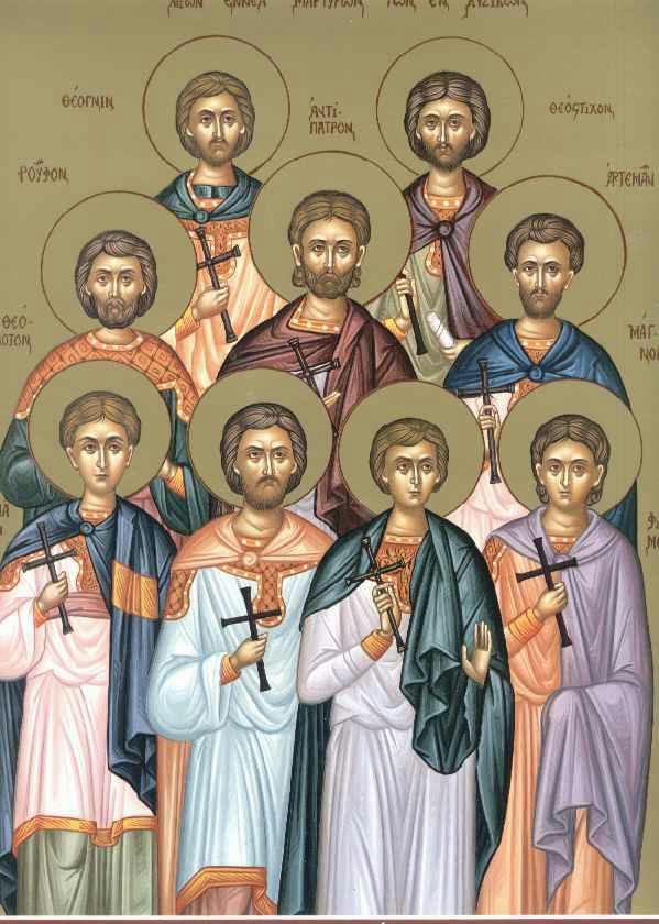 Икона 9 мучеников Кизических. Открытые интернет-источники