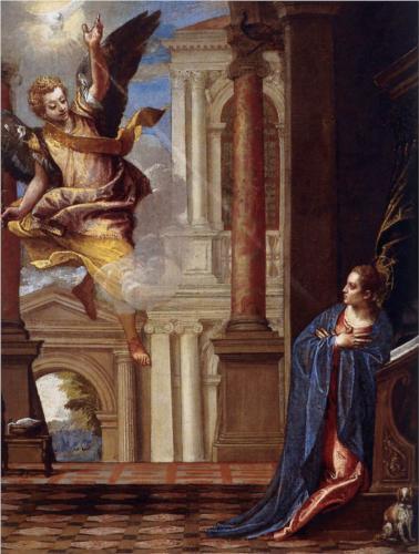 Благовещение. Паоло Вернезе 1560