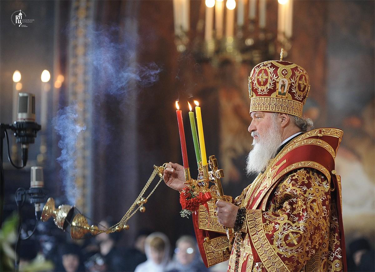 Патриарх Кирилл: Никогда еще за всю постреволюционную историю в храмах на Пасху не было так много народа