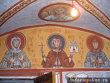 Росписи о.Андрея Давыдова в храме Иоанна Предтечи в Пскове