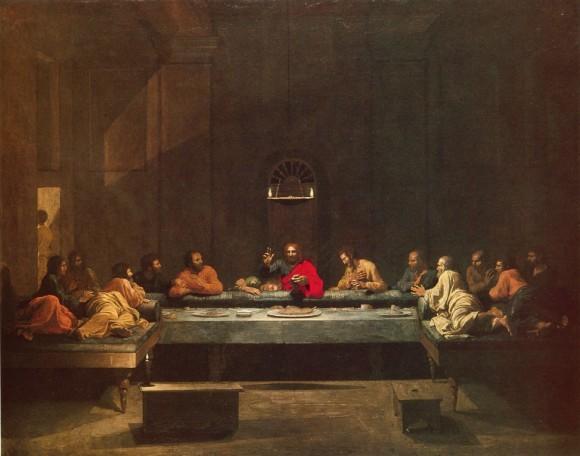 Никола Пуссен Тайная Вечеря 1640 Масло на холсте Замок Белвуар, Грэнтем, Великобритания
