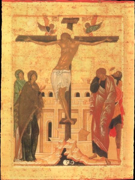 Распятие. Из праздничного ряда иконостаса Успенского собора Кирилло-Белозерского монастыря. 1497 г.