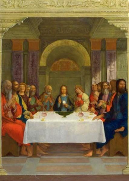 Эрколе де Роберти Святое Причастие (Тайная Вечеря)