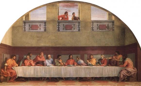 Андреа дель Сарто Тайная Вечеря 1520-1525 Фреска Монастырь Святого Сальви, Флоренция