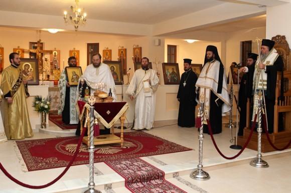 Открытие дверей и малое освящение вновь отстроенного нижнего храма.