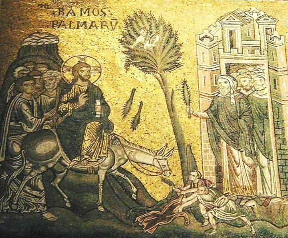 Вход Господень в Иерусалим. 12 век