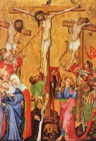 Распятие Христа - Верхнерейнский мастер