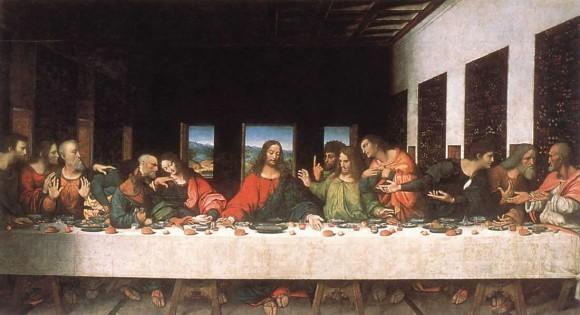 Тайная вечеря (неизвестный автор 17 века) копия фрески Леонардо да Винчи