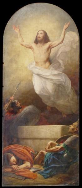 Воскресение Христа. К. А. Штейбен. 1843–1854 гг. Холст, масло. Живописная работа в нише пилона Исаакиевского собора