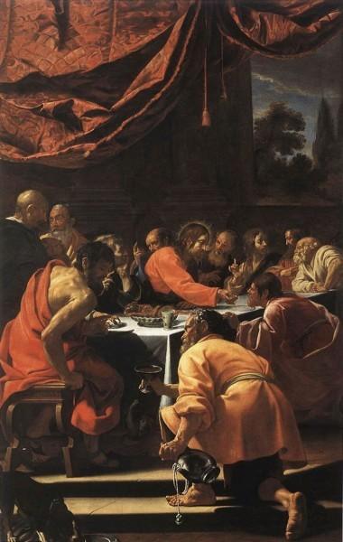 Симон Вуэ Тайная Вечеря Масло, холст 1615-1620