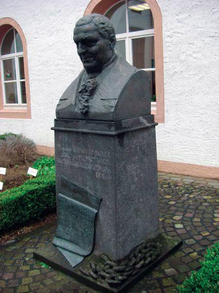 Бюст доктора Гааза в Малом Казенном переулке. Установлен в 1909 г. во дворе бывшей «Гаазовской больницы». На памятнике – девиз доктора Гааза: «Спешите делать добро».