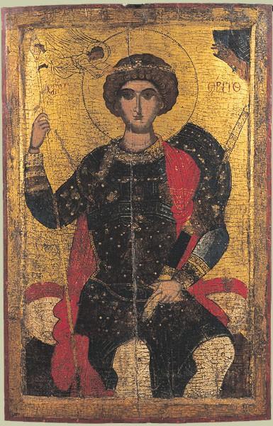 Св. Георгий на троне. Нач. XVI в. Болгария. Художественная галерея, Пловдив