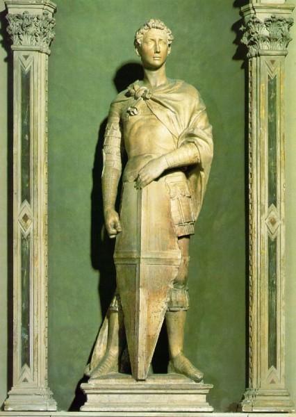 Донателло. Св.Георгий. 1415-1417 гг. Раннее Возрождение. Фасад церкви Ор Сан-Микеле, Флоренция