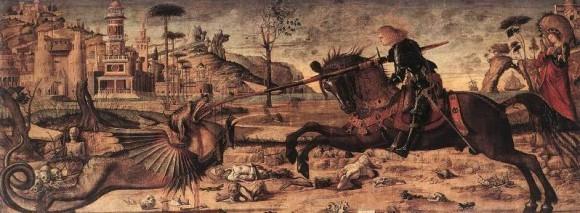 Витторе Карпаччо. Битва святого Георгия с драконом. Ок. 1507г. Скуола ди Сан-Джорджо,Венеция