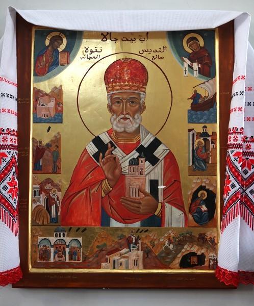 Новая мироточивая икона свт. Николая, Бейт-Джала