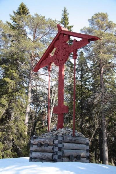 Поклонный крест на Секирной горе