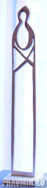 Некрасов Сергей, Тишинв. Дерево, белила, 79х11х16 см, 2011, Москва